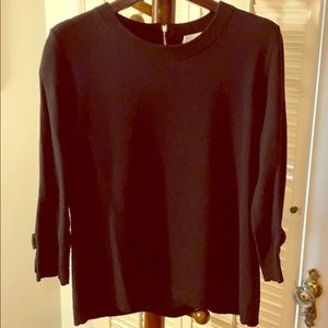 KATE SPADE WOOL/CASH SWEATER W/BOWS XL